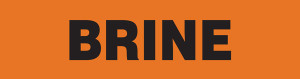 Brine Pipe Marking Wrap (Orange/Black)