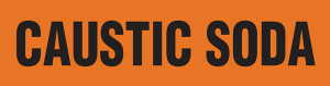 Caustic Soda Pipe Marking Wrap (Orange/Black)