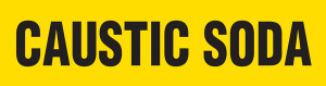 Caustic Soda Pipe Marking Wrap (Yellow/Black)