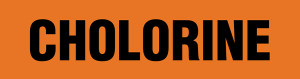 Chlorine Pipe Marking Wrap (Orange/Black)