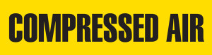 Compressed Air Pipe Marking Wrap (Yellow/Black)