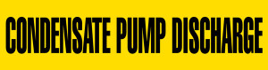 Condensate Pump Pipe Marking Wrap (Yellow/Black)