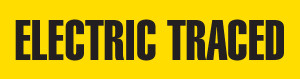 Electric Traced Pipe Marking Wrap (Yellow/Black)