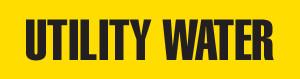 Utility Water Pipe Marking Wrap (Yellow/Black)