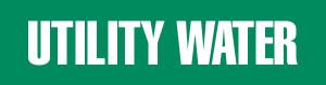 Utility Water Pipe Marking Wrap (Green/White)
