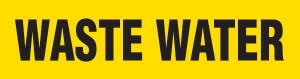 Waste Water Pipe Marking Wrap (Yellow/Black)