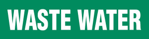 Waste Water Pipe Marking Wrap (Green/White)