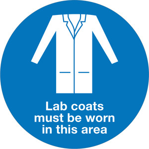 Lab Coats Must Be Worn - Floor Sign