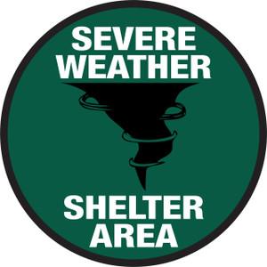 Severe Weather Shelter - Floor Sign