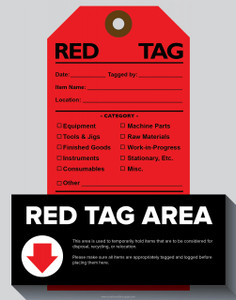 Red Tag Area Poster