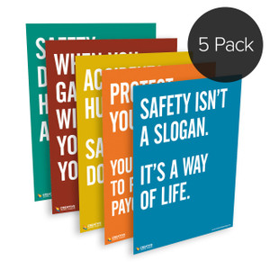 5-Pack: Safety Quote Series Posters