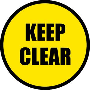 Keep Clear - Floor Sign