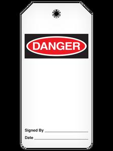 Danger (Blank) Tag Roll