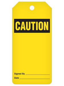 Caution (Blank) Tag Roll