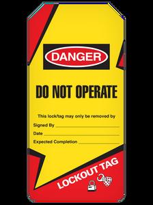 Danger Do Not Operate  Lightning Bolt Tag Roll