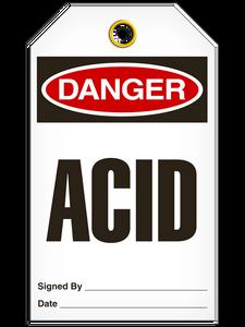 Danger Acid Tags