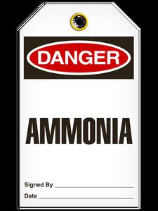 Danger Ammonia Tags