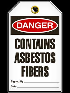 Danger Contains Asbestos Fibers Tags