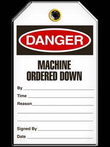 Danger Machine Down Tags