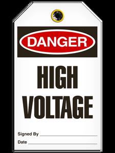 Danger High Voltage Tags