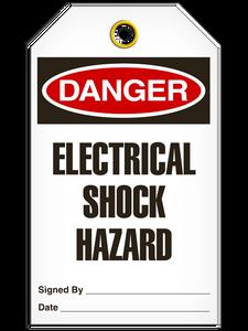 Danger Electrical Shock Hazard Tags