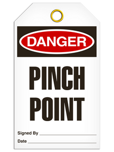 Danger Pinch Point Tags