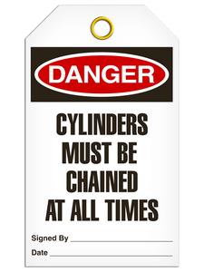 Danger Cyclinder Chn Tags
