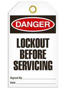 Danger Lockout Before Tags