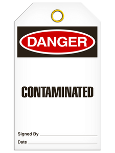 Danger Contaminated Tags