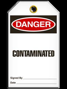 Danger Contaminated Tags