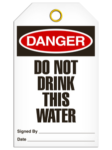 Danger Do Not Drink Tags