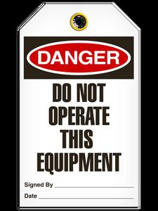 Danger Do Not Equip Tags