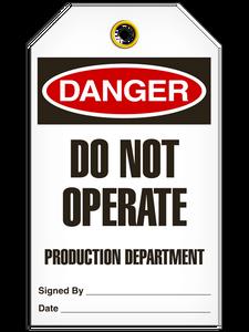 Danger Do Not Dept Tags
