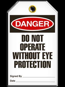 Danger Eye Protection Tags