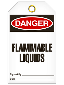 Danger Flammable Liquid Tags