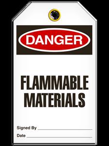 Danger Flammable MatertialTags