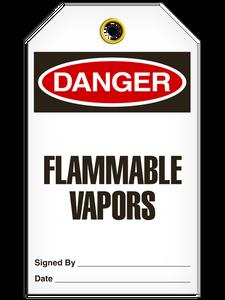 Danger Flammable VaporTags