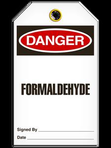 Danger Formaldehyde Tags
