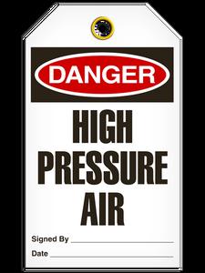 Danger High Pressure Tags