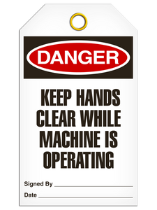 Danger Keep Hand Tags