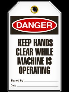 Danger Keep Hand Tags