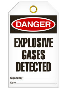 Danger Explosive Gas Tags