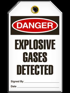 Danger Explosive Gas Tags