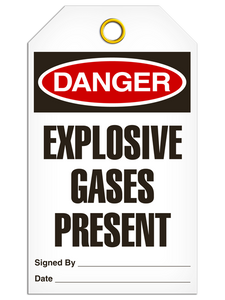 Danger Gases Present Tags