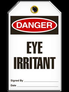 Danger Eye Irritant Tags