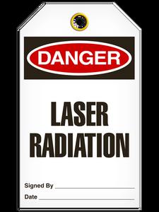 Danger Laser Rad Tags