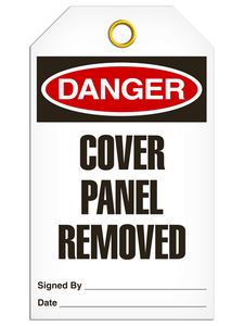 Danger Cover Panel Tags