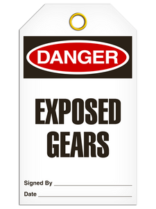 Danger Exposed Gears Tags