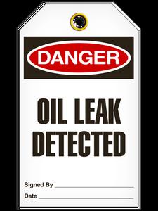Danger Oil Leak Det Tags
