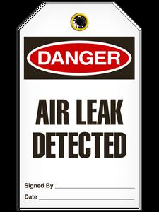Danger Air Leak Det Tags